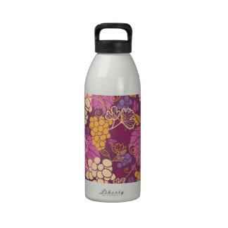 Beautiful Grape Vines Pattern Water Bottles