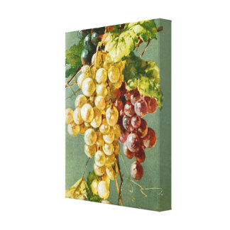Beautiful Grapes Vintage Art Canvas Print