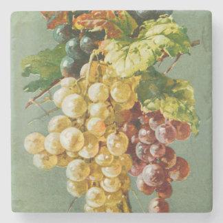 Beautiful Grapes Vintage Art Stone Coaster