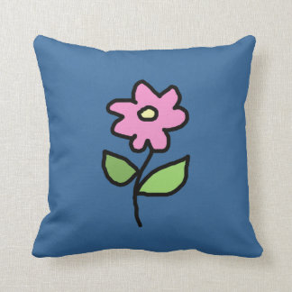 beautiful graphic pink flower decor throw pillow