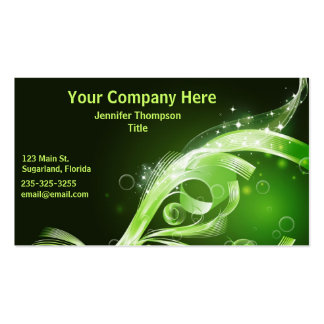Beautiful Green Abstract Business Card