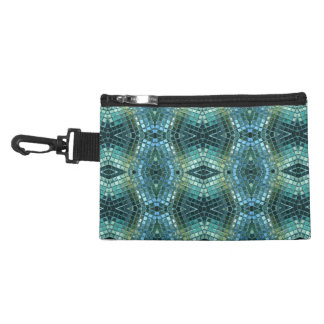 Beautiful Green and Blue Glass Mosaic Accessories Bag