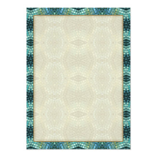 Beautiful Green and Blue Glass Mosaic Card