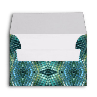 Beautiful Green and Blue Glass Mosaic Envelope