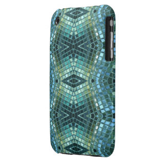 Beautiful Green and Blue Glass Mosaic iPhone 3 Cases