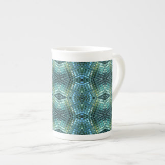 Beautiful Green and Blue Glass Mosaic Tea Cup