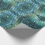 Beautiful Green and Blue Glass Mosaic Wrapping Paper