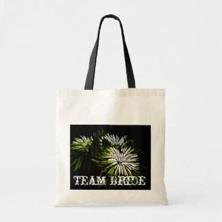 beautiful green and white floral design png tote bag