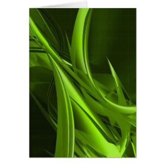 Beautiful Green Artwork Greeting Card