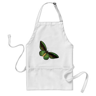 Beautiful Green Butterfly Adult Apron