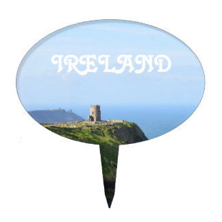 Beautiful Green Cliffs of Moher Cake Topper