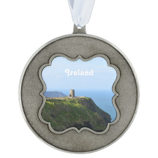 Beautiful Green Cliffs of Moher Pewter Ornament