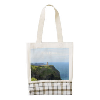 Beautiful Green Cliffs of Moher Zazzle HEART Tote Bag