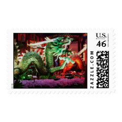 Beautiful Green Dragon Art Sculpture Postage