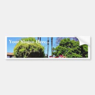 Beautiful Green Flower Park In San Juan Capistrano Car Bumper Sticker