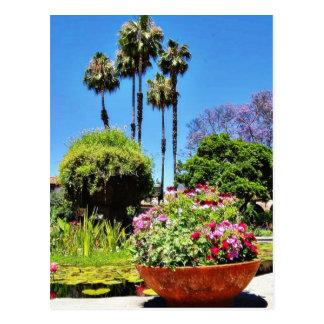 Beautiful Green Flower Park In San Juan Capistrano Postcard