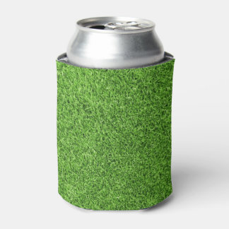Beautiful green grass texture from golf course can cooler