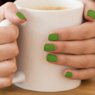 Beautiful green grass texture from golf course minx® nail wraps