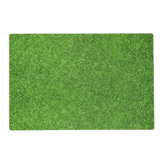 Beautiful green grass texture from golf course placemat