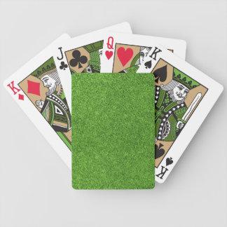 Beautiful green grass texture from golf course card deck