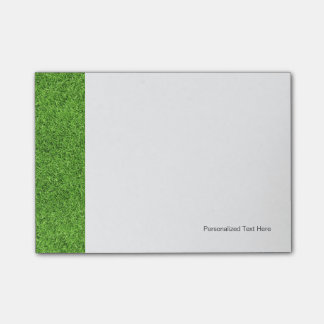 Beautiful green grass texture from golf course post-it® notes