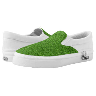Beautiful green grass texture from golf course printed shoes