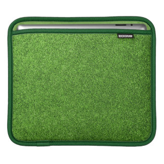 Beautiful green grass texture from golf course sleeve for iPads