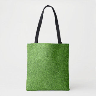 Beautiful green grass texture from golf course tote bag