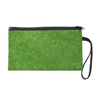 Beautiful green grass texture from golf course wristlet purse