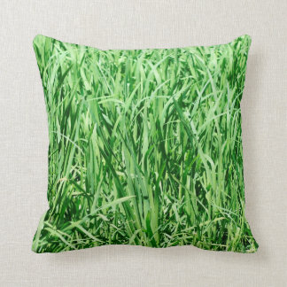 Beautiful Green Grass Throw Pillow