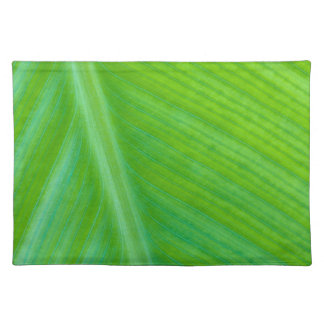 Beautiful Green Leaf Macro Photo Cloth Placemat