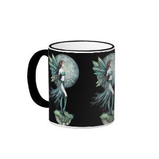 Beautiful Green Moon Fairy Coffee Mug