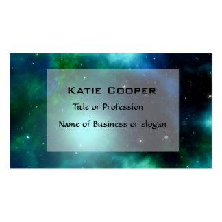 Beautiful Green Nebula filled with Stars Business Card