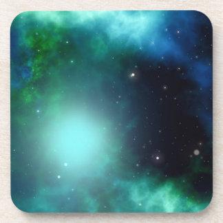 Beautiful Green Nebula filled with Stars Drink Coaster