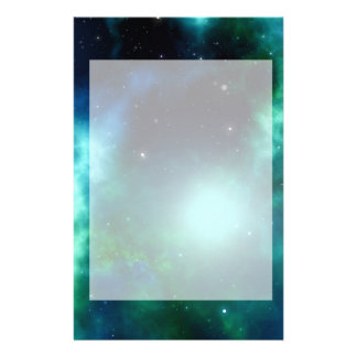 Beautiful Green Nebula filled with Stars Stationery
