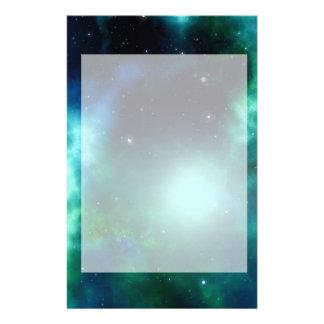 Beautiful Green Nebula filled with Stars Stationery