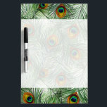 """Beautiful Green Peacock Feather Dry Erase Board<br><div class=""""desc"""">Beautiful Green Peacock Feather</div>"""