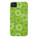 Beautiful, green retro floral iPhone 4/4S Case iPhone 4 Cases