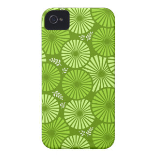 Beautiful, green retro floral iPhone 4/4S Case