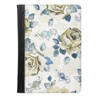 Beautiful green Roses and blue Birds iPad Air Case