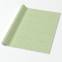 Beautiful Green Victorian Damask Wrapping Paper