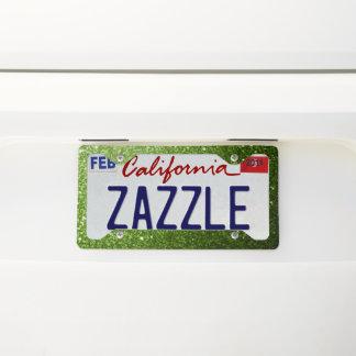 Beautiful Greenery Green glitter sparkles License Plate Frame