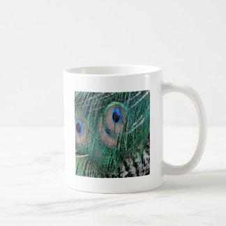 Beautiful Greenish  Peacock Feathers Coffee Mug