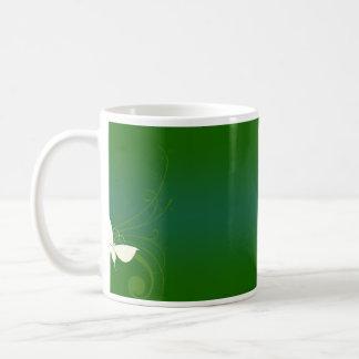 Beautiful greenish texture coffee mug