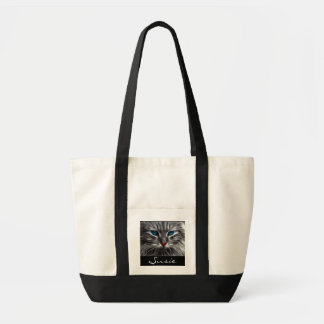 Beautiful Grey and White Cat Blue Eyes Tote