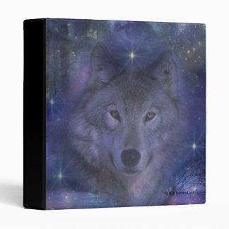 Beautiful Grey Wolf in the Moonlight Binder