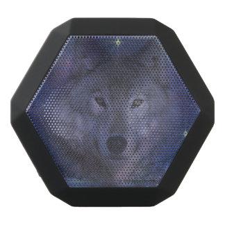 Beautiful Grey Wolf in the Moonlight Black Bluetooth Speaker
