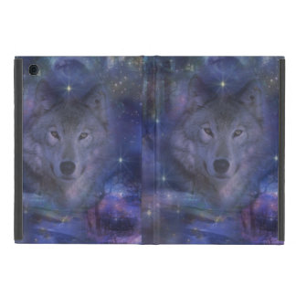 Beautiful Grey Wolf in the Moonlight Covers For iPad Mini