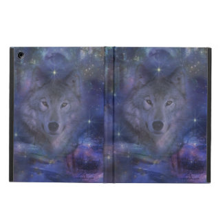 Beautiful Grey Wolf in the Moonlight iPad Air Covers