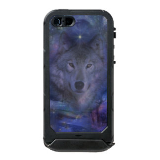 Beautiful Grey Wolf in the Moonlight Waterproof Case For iPhone SE/5/5s